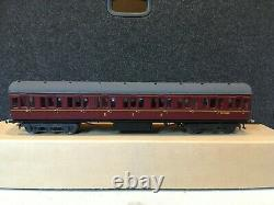0 Gauge BR/ex LMS set of two Pull and Push Coaches, lined maroon livery, boxed