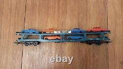 1970s Lima electric train set engine, two inter city carriages anc car transport