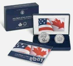 2019 2 X 1 Oz Silver PRIDE OF TWO NATIONS Coin Set
