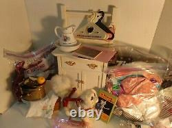 American Girl collection 80 items two dolls bed furniture clothes sets and more