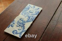 Antique Set of Two Portuguese Tiles depicting an Angel with Breasts 18th Century