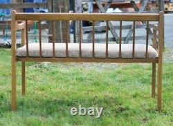 Beech Two Seat Bench Sofa + 2 X Armchair Set Collect Le8 MCM Collect Leics. Le8