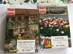 Busch H0/00/176 scale flower kit sets two boxes