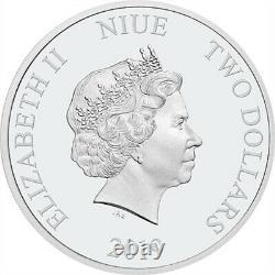 DISNEY KERMIT & MISS PIGGY SILVER COINS SET OF TWO 1oz. 999 SILVER CERT AUTH NEW