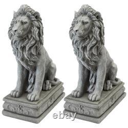 Design Toscano Fouquet Royal Palace Sentinel Lion Statue Set of Two
