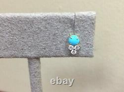 EF Collection 14K Yellow Gold Diamond Trio and Turquoise Studs set of two studs