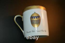 Faberge Set Coffee Pot & Two Coffe Cups Porcelain 24k w / box