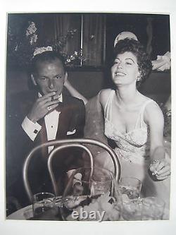 Frank Sinatra and Ava Gardner Original 8 by 10 Two Photo Set 1953 by Frank Worth