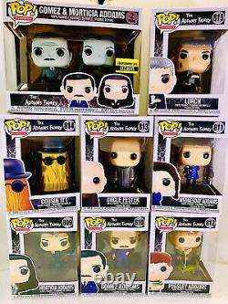 Funko ADDAMS FAMILY 9 POP SET with LURCH & GOMEZ MORTICIA REG & EE TWO PACK