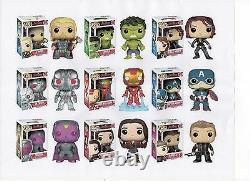 Funko MARVEL AVENGERS 2 TWO 3.75 FIGURE 9PC SET Thor Hulk Ultron Vision & GANG