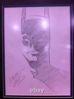 Greg Land Original Batman & Nightwing Comic Art Sketch Set Of Two! Framed
