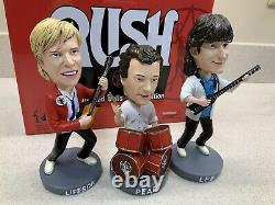 Iconic Rock Band Rush Collectible Rock N Roll Bobbleheads! Two Separate Sets