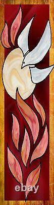 Inspirational Christian Church Banners Holy Spirit (TWO BANNER SET)