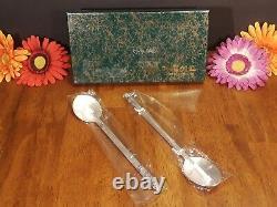 KOREAN PURE SILVER 99% Two Sujeo Chopstick & Spoon Sets 140 grams NOS EXC VTG