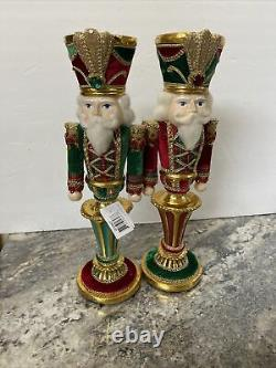 Katherine's Collection Nutcracker Candle Holder 12-1/2 Set of Two 28-928477