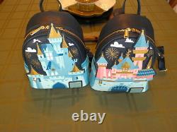 Loungefly Disney Castle Mini Backpack Set of Two Disneyland Disney World New