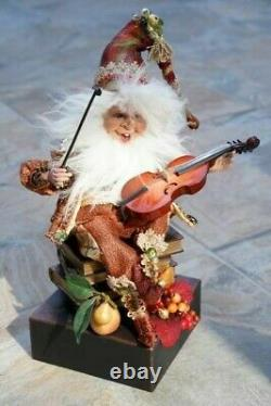 Mark Roberts Violinist Fall Elf Set of Two, Limited Edition