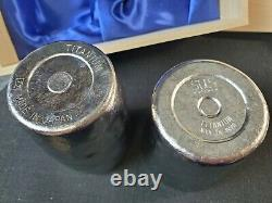 NIB SUS Gallery Set Of Two Titanium Cups Japan