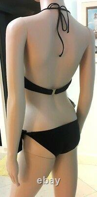 NWT $868 La Perla Bikini Swimsuit Black Gold Couture Collection Two Pieces Set