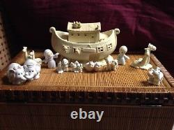$ PRECIOUS MOMENTS NOAHS ARK TWO 2 BY 2 LOT 11 PIECE SET 2 x 2 COLLECTIBLE BOXES