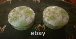 RARE Tiffany And Co. Japan Clinique Set Of Two Porcelain Trinket Boxes WithLids