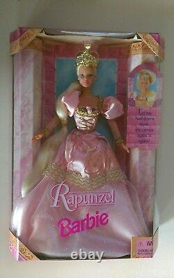 Rapunzel 1997 Barbie Doll Collectible 17646 and Prince Ken Two Barbie Set