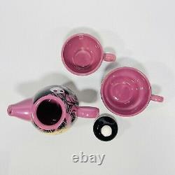 Rare Disney The Nightmare Before Christmas Tea For Two Teapot Set 2 Cups Mugs