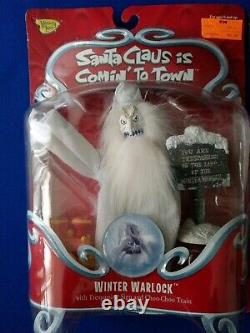 SANTA CLAUS COMING COMIN TO TOWN Winter Warlock Memory Lane set of two in box