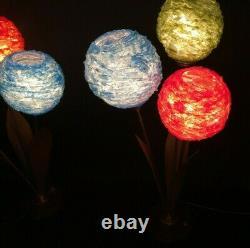 Set Of Two Vintage 60s 70s Spun Lucite Shade Lamp Mid Century Modern Lighting