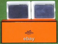 Set of Two Hermes'Couvertures Nouvelles' Equestrian Mini-Ashtrays (New in Box)