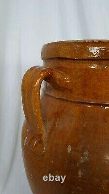 Set of two old Italian amphora shaped jars