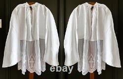 Set of two surplices with beautiful lace underside superplie superpellicum