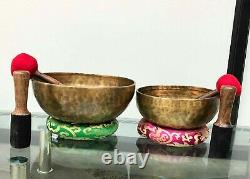 Singing Bowl two set 11 & 9 inches Diameter Crown chakra-Root Chakra combo pack