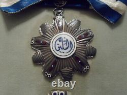 Sudan Order of the Two Niles Complete Set Silver Neck Badge Breast Star Medal