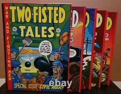 TWO FISTED TALES Complete EC Comics 4 Volume Set Slipcase Russ Cochran KURTZMAN