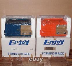= TWO UNBUILT = portable vintage transistor AM radio receiver RARE 1970s KIT SET