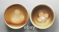 Tokoname Wood-fired Two Teacups Set by Hokujo, #hokujo131 D88H60mm, 130ml
