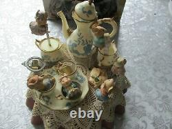 Vintage Enesco Tea for Two Music Set with box and adaptor MUSIC BOX