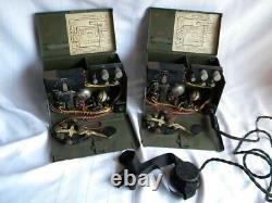 Vintage WW2 Era US ARMY TELEGRAPH SET TG-5-BTwo BoxesSignal CorpsPhila43USA