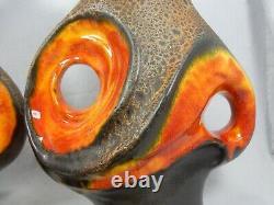 1 Paar / Ensemble De Deux Walter Gerhards 70's Design Fat Lava Lampen / Bases De Lampes