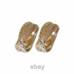14k Or Hawaiian Heirloom Jewelry Double Band 14k Gold Wedding Ring Set Of Two