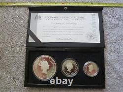 1995 Australian Kookaburra Collection Silver Proof Set 10, Two & One Troy Ounce