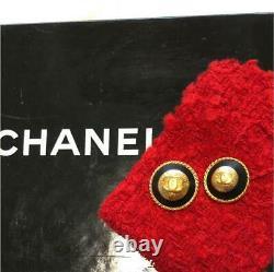 Chanel Bouton Bouton Millésime Grand Et Petit Ensemble De Deux Taille Environ 2cm D'or #30 F/s