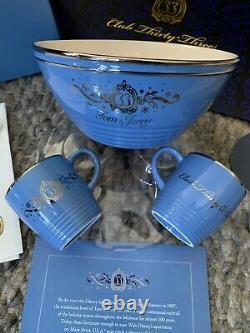 Disney Disneyland Club 33 Tom & Jerry Bowl Et Deux Coupes Recipe Set Nouveau + Bonus