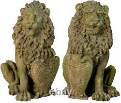 Ensemble De Deux Sculptures Statue De La Porte De Richelieu Pour La Maison Ou Le Jardin