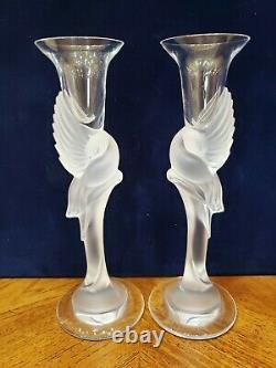 Faberge Kissing Doves Candle Holder Ensemble De Deux Porte-bougie