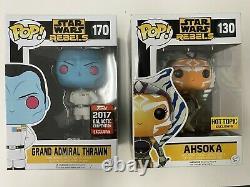Funko Pop! Star Wars Rebels Grand Admiral Thrawn & Ahsoka Tano Ensemble De Deux