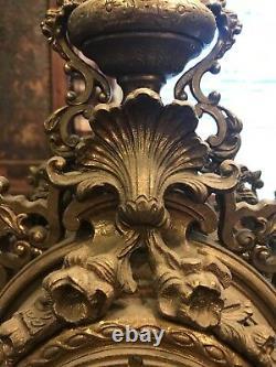 Garniture En Laiton Italien Avec Manteau Et Deux Supports Candel