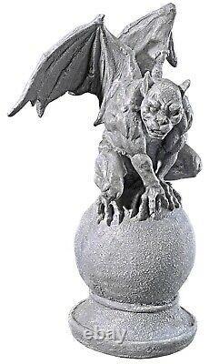 Halloween Prop Décor Ensemble De Deux Statues Malicieuses De Gargoyle (a)