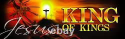 Inspirational Christian Church Banners King And Lord (two Banner Set)